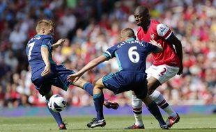 Abou Diaby face à Sunderland, le 8 août 2012