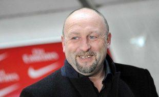 L'entraîneur de Caen, Franck Dumas, le 31 janvier 2009 au Parc des Princes.