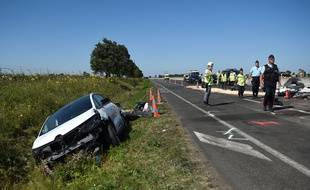 Photo d'illustration d'un accident sur une autoroute française.