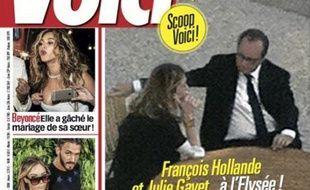 Le magazine Voici publie des photos de François Hollande et Julie Gayet dans les jardins de l'Elysée
