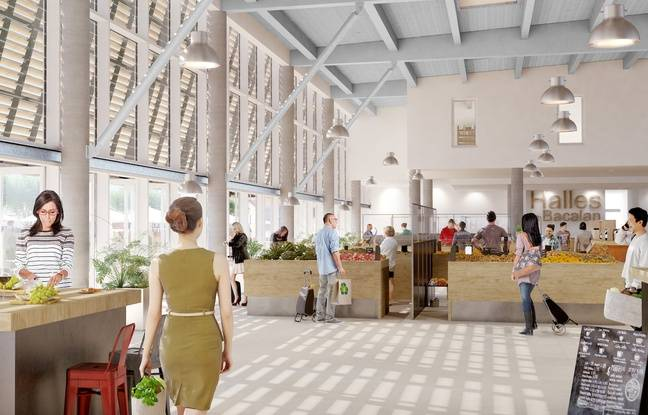 Vue intérieur des futures halles de Bacalan, en face de la Cité du Vin de Bordeaux