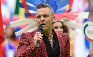 Le chanteur Robbie Williams