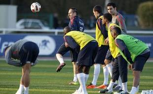 Franck Ribéry, à l'entraînement avec l'équipe de France, le 21 mars 2011