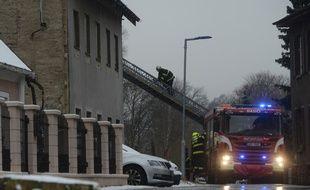 L'incendie s'est déclaré dans la nuit dans cette ville frontalière avec l'Allemagne.