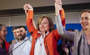 Nathalie Loiseau le soir des européennes, le 26 mai 2019.