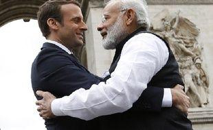 Narendra Modi et Emmanuel Macron, le 3 juin 2017.