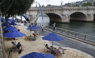 Illustration de Paris Plage le 20 juillet 2015 à Paris.