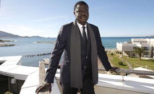 Pape Diouf en 2014, lors de l'annonce de sa candidature à la mairie de Marseille.