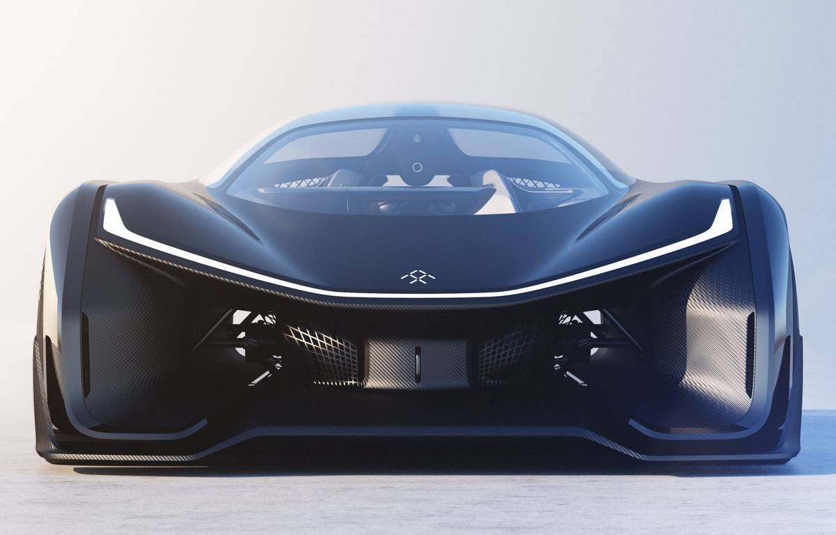 Le prototype FFZero1 du constructeur californien Faraday Future.  – FARADAY FUTURE