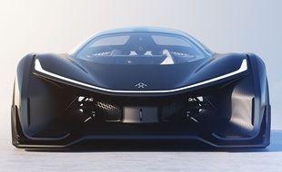 Le prototype FFZero1 du constructeur californien Faraday Future.