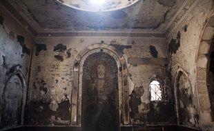 Une église en Egypte, près des pyramides de Giza a été endommagée lors des manifestations en août 2013.
