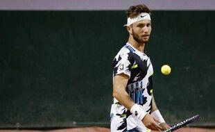 Corentin Moutet, le 28 septembre 2020 à Roland-Garros.