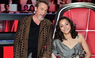 Marghe, gagnante de The Voice 2021, et son coach Florent Pagny