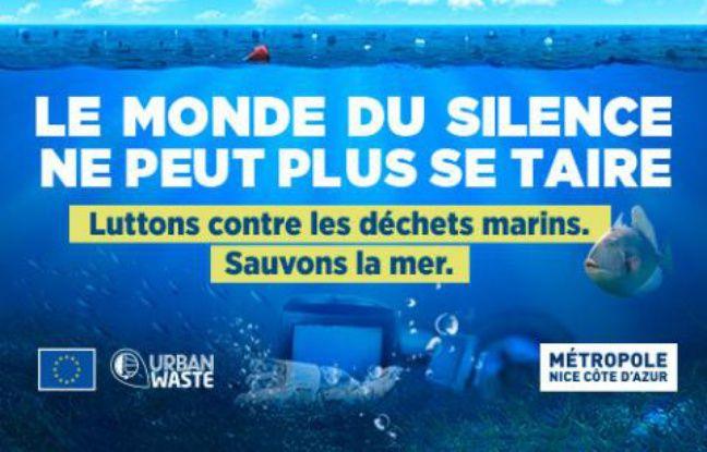 Campagne de sensibilisation à la pollution marine, lancée par la Métropole de Nice en août 2018