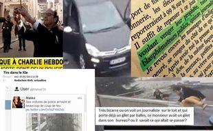 """Les fausses informations envahissent le web après l'attentant perpétré contre """"Charlie Hebdo""""."""