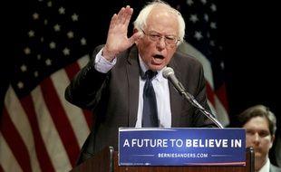 Bernie Sanders lors de l'annonce de sa candidature à New York, le 19 février 2019.