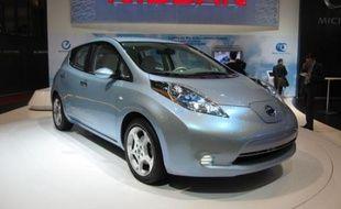 La Nissan LEAF électrique.