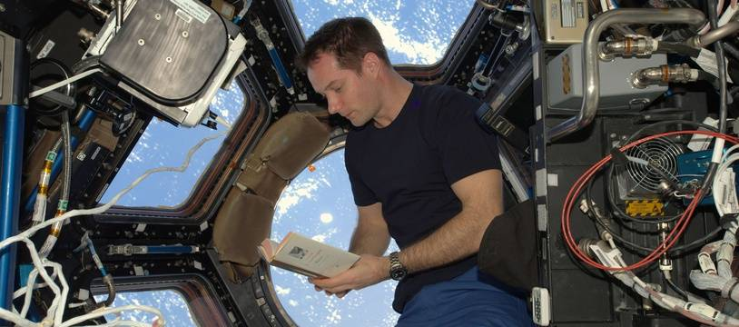 Thomas Pesquet dans la Station spatiale internationale (ISS) en avril 2017.
