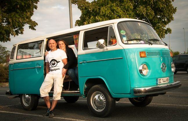 Philippe Dazi et son combi VW de 1977, entièrement d'origine.