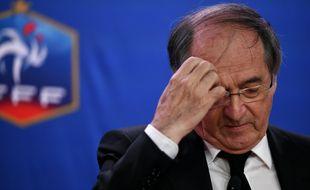 Noël Le Graët lors d'une conférence de presse au siège de la FFF.