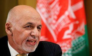 Le président afghan Mohammad Ashraf Ghani lors de la Conférence sur l'Afghanistan à Génève, le 27 novembre 2018.