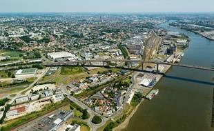 Vue aérienne du Bas Chantenay, à Nantes