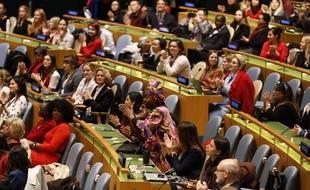 Assemblée de l'ONU le 7 mars 2020, à l'approche de la Journée internationale des droits des femmes