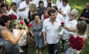 """Arnaud Montebourg, ministre du Redressement productif, a affirmé dimanche que le projet des socialistes au gouvernement était de """"conduire la France sur la route de la troisième révolution industrielle"""""""