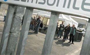 L'usine d'Hénin-Beaumont en grève, après la reprise avortée, en 2007.