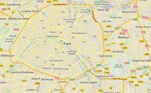 Google map de Cachan, dans le Val-de-Marne.