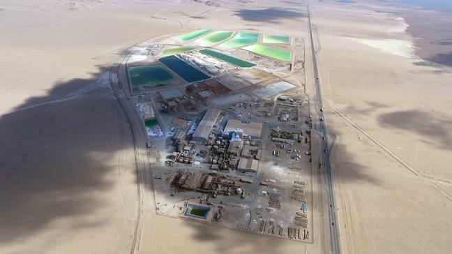 Une mine de lithium dans le désert d'Atacama au Chili.