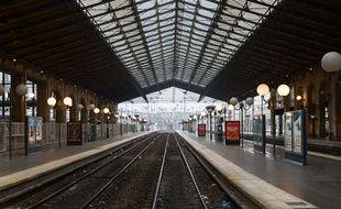 La Gare du Nord à Paris vide de ses trains le 5 décembre 2019.