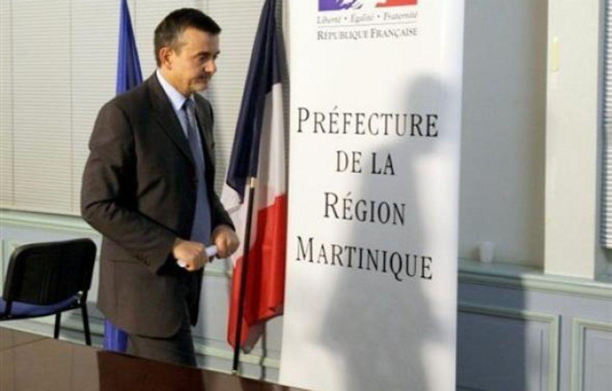 """Ni le président, ni le Premier ministre ne devraient se rendre dans l'immédiat aux Antilles. Yves Jégo n'a pas non plus programmé un voyage sur place """"dans les heures qui viennent"""". – Thomas Coex AFP"""