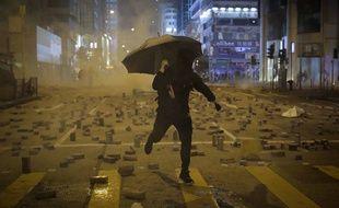 Un manifestant pro-démocratie à Hong Kong (illustration).