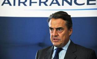 Le PDG d'Air France Alexandre de Juniac, le 28 septembre 2014 à Paris
