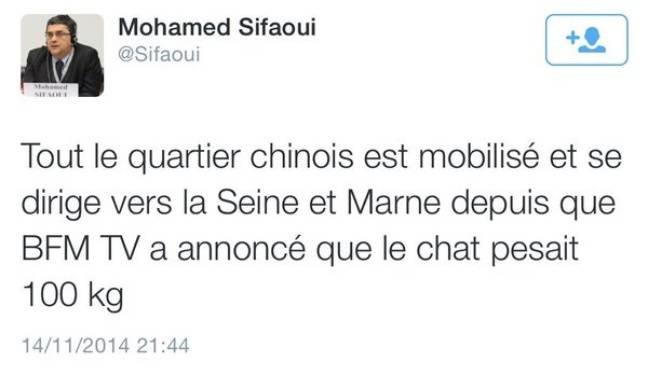 Tweet de Mohamed Sifaoui.