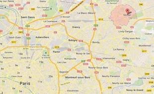 Google map de Sevran.