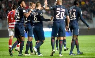 Nkunku a ouvert le score pour le PSG face à Club africain, à Tunis, le 4 janvier.