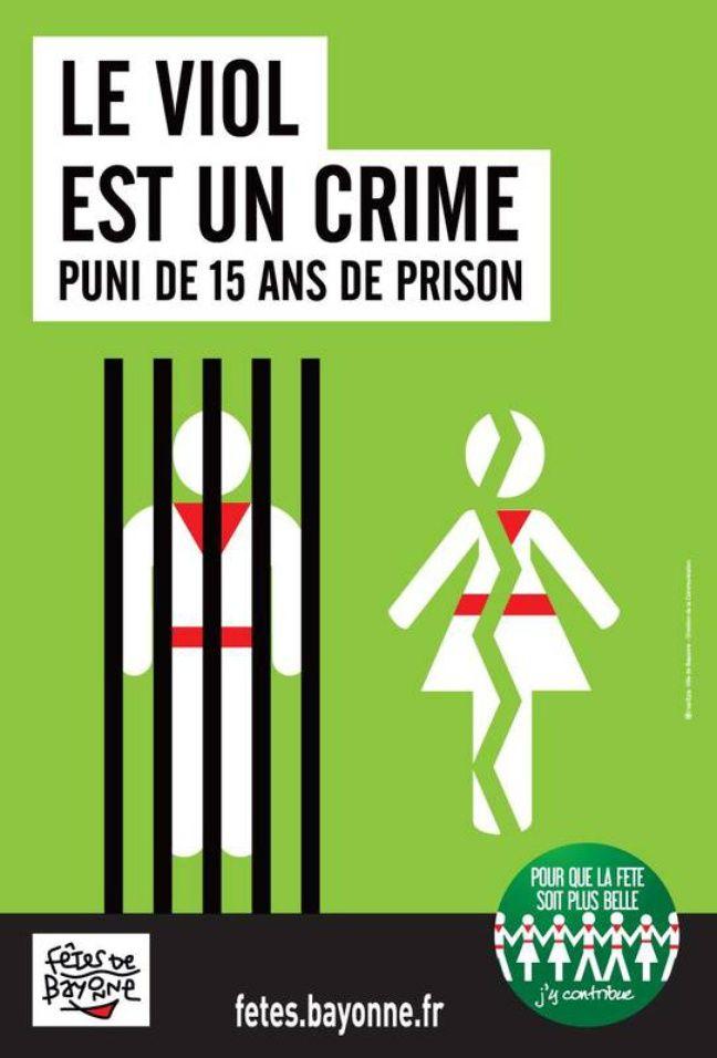 Visuel de prévention édité par les organisateurs des Fêtes de Bayonne.