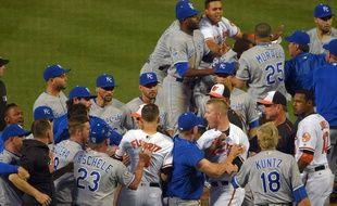La bagarre a éclaté lors du match opposant les Baltimore Orioles aux Kansas City Royals.
