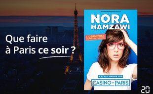 Nora Hamzawi sera ce soir au Casino de Paris.