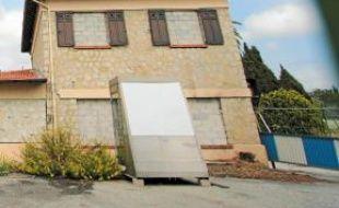 L'un des bâtiments bientôt démoli.