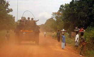 Des militaires en Centrafrique.