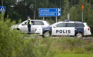 Une  voiture de police finlandaise à Laukaa en 2013