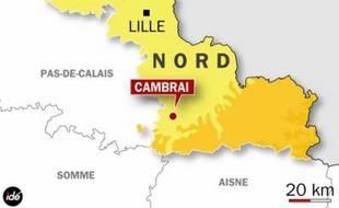 Localisation de Cambrai, dans le Nord.