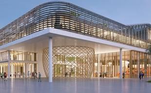 Le bâtiment principal du projet Coeur Aeroparc à Mérignac accueillera la technopole Bordeaux Technowest.