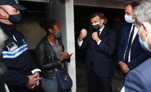 Emmanuel Macron lors de sa visite à Montpellier le 19 avril