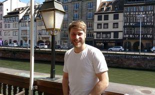 """Tom Dingler lors de la présentation du film """"Le talent de mes amis"""" à Strasbourg"""