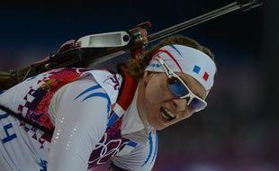 La biathlète française Anaïs Bescond, lors du sprint des JO d'hiver à Sotchi, le 9 février 2014.
