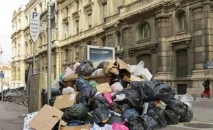Illustration d'un tas de poubelle, ici à Marseille.